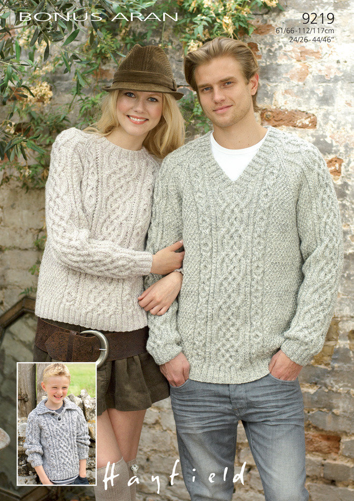 Sweaters In Hayfield Bonus Aran With Wool Knitting