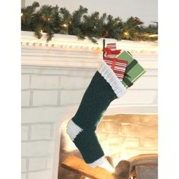 Crochet Stocking in Bernat Happy Holidays - Downloadable PDF