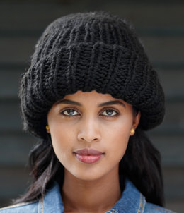Make-a-Statement Hat in Lion Brand Wool-Ease Thick & Quick - 60113D