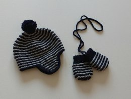 Theo Earflap Hat and Mitts