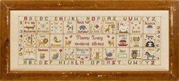 Historical Sampler Company Animal Magic Birth Sampler Cross Stitch Kit - 62cm x 22cm