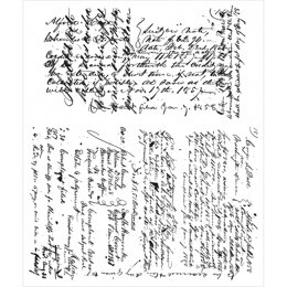 """Stampers Anonymous Tim Holtz Cling Stamps 7""""X8.5"""" - Ledger Script"""
