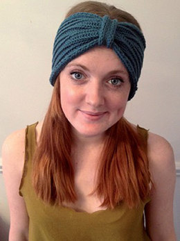 Ribbed Turban in Debbie Bliss Cotton DK