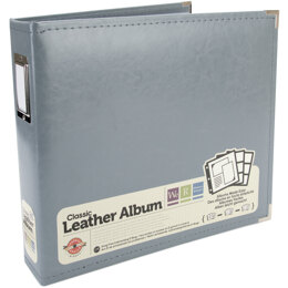 "We R Memory Keepers We R Classic Leather D-Ring Album 12""X12"" - Charcoal"