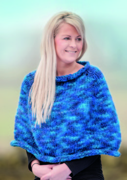 Top Down Poncho in Wendy Attitude Mega Chunky - 6125 - Downloadable PDF
