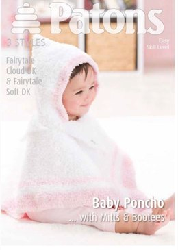 Baby Poncho and Accessories in Patons Fairytale Cloud - 3976