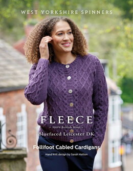 Follifoot Cabled Cardigans in West Yorkshire Spinners Bluefaced Leicester DK - DBP0175 - Downloadable PDF