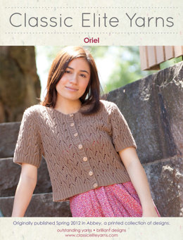 Oriel Cardigan in Classic Elite Yarns Allegoro - Downloadable PDF