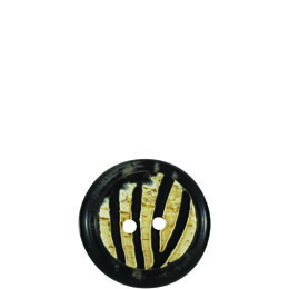 Stripy Horn 23mm 2-Hole Button
