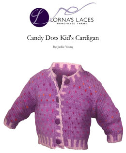 Candy Dots Kid's Cardigan in Lorna's Laces Shepherd Worsted