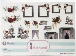 Dress My Crafts Fussy Cutting Image Sheet 240gsm A4 2/Pkg - Romantic Roses