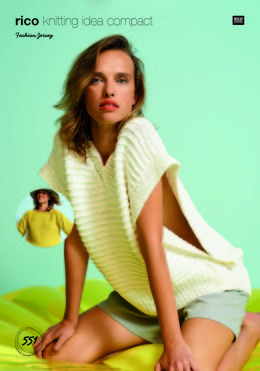 Top and Poncho in Rico Fashion Jersey - 551 - Leaflet