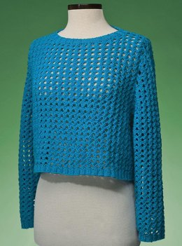 Top-Down Cropped Pullover #171