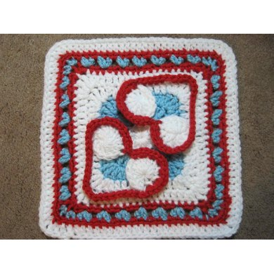 Heart to Heart Afghan Block