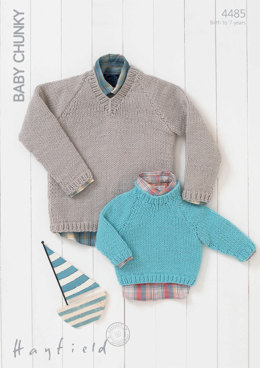 Sweaters in Hayfield Baby Chunky - 4485 - Downloadable PDF