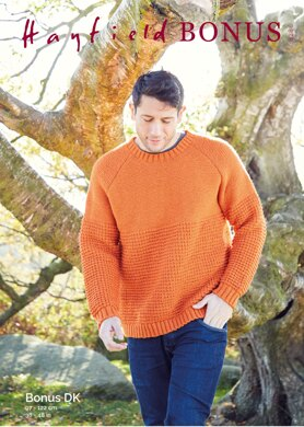 Man's Sweater in Hayfield Bonus DK - 8286 - Downloadable PDF