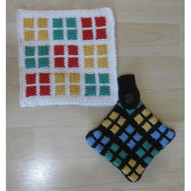 KGeometry: 36 Squares Placemat and Pot Holder