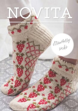 Strawberry Socks in Novita Venla - Downloadable PDF