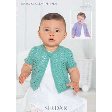 Sirdar Knitting Pattern Abbreviations : Cardigans in Sirdar Snuggly Baby Bamboo DK - 1330 - Downloadable PDF