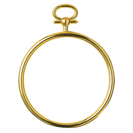 Vervaco Round Frame Gold Finish 7cm