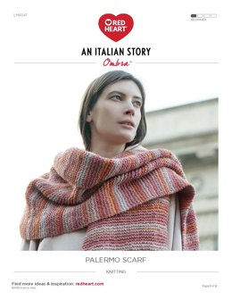 Palermo Scarf in Red Heart Ombra - LM6047 - Downloadable PDF
