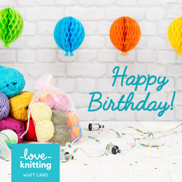 LoveKnitting eGift Card - Happy Birthday!