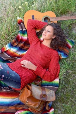 Sweater in Lace Pattern Mix in Schachenmayr Micro - 6300 - Downloadable PDF