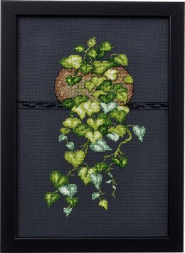 Permin Heart Leaf Philodendron Cross Stitch Kit