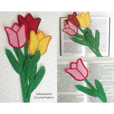 044 Tulip bookmark or decor Amigurumi Ravelry