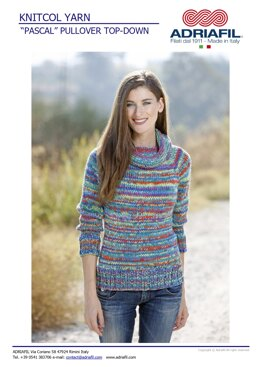 Pascal Sweater in Adriafil Knitcol - Downloadable PDF