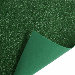 Trimits Glitter Felt Roll - 1m x45cm - Green