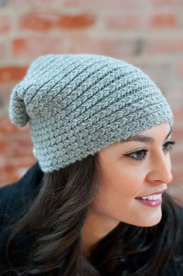Button Flap Hat in Plymouth Yarn Homestead - F554 - Downloadable PDF