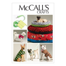 McCall's Dog Bed In 3 Sizes, Leash, Case, Harness Vest and Coat M6455 - Sewing Pattern
