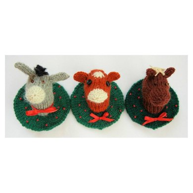 Christmas Donkey, Cow and Horse