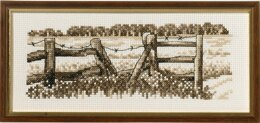 Permin Fence Cross Stitch Kit - 22cm x 9cm