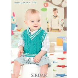 Baby Boys Sweater And Tank Top in Sirdar Snuggly Dk - 4529