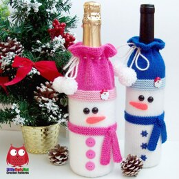 153 Snowman bottle covers for wine and champagne