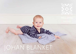"""Johan Baby Blanket"" - Free Afghan Knitting Pattern in MillaMia Naturally Soft Merino-2 Baby Blanket in MillaMia Naturally Soft Merino"