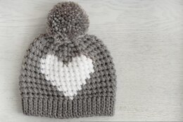 Hunter Crochet Heart Hat