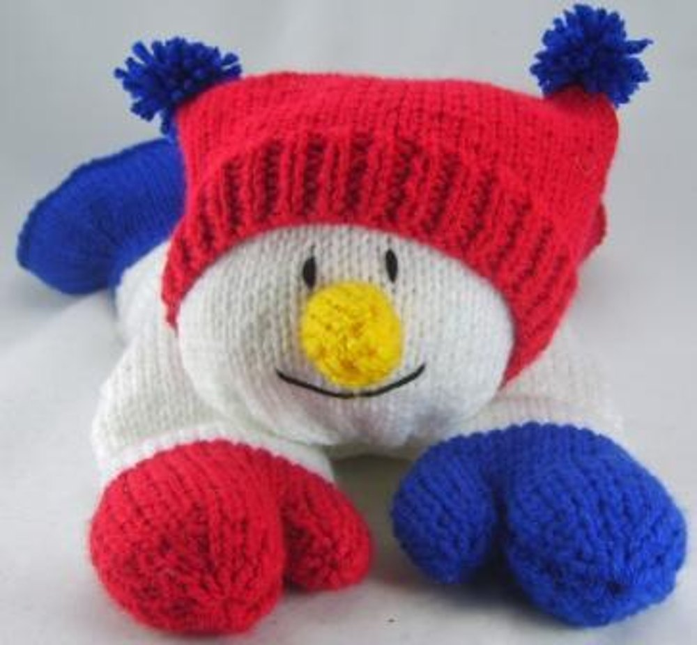 Knitting By Post Facebook : Snowman pyjama case knitting pattern by post