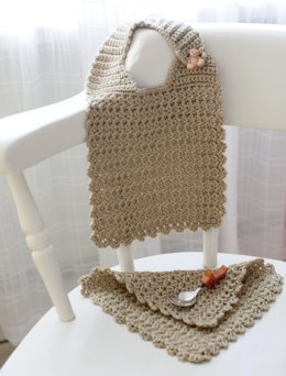 Little Star Bib and Washcloth