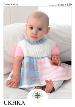 Dress, Cardigan and Hat in King Cole DK - UKHKA129pdf - Downloadable PDF