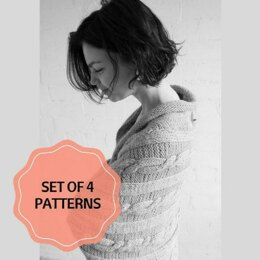 Set of 4 Cardigans Patterns