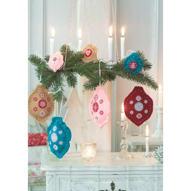 Enchanting Christmas - Christmas Tree Ornaments in Anchor - Downloadable PDF