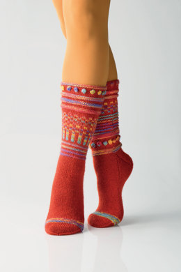 Hodgepodge Socks in Regia 4 Ply 50g and Design Line by Kristin Nicholas - R0240