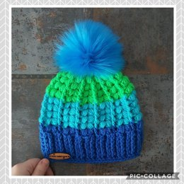The Harris Beanie (puff stitch)