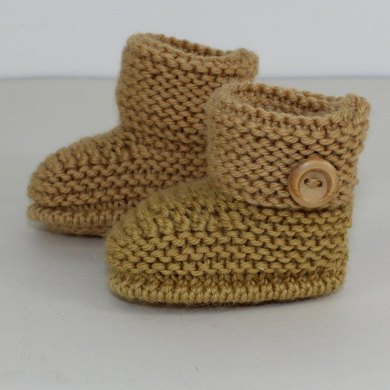 Baby Simple Cuff Booties Knitting Pattern By Madmonkeyknits