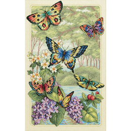 Dimensions Butterfly Forest Cross Stitch Kit