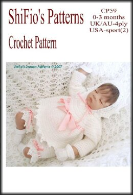 Crochet Pattern baby angel top, hat & shorts UK & USA Terms #59
