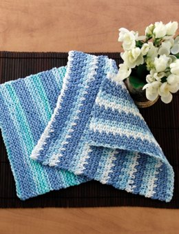 Dishcloth in Lily Sugar 'n Cream Stripes